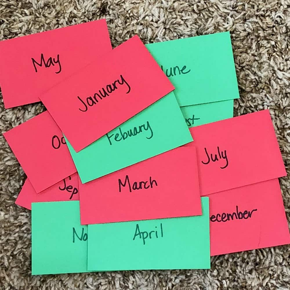 activity of the month envelopes