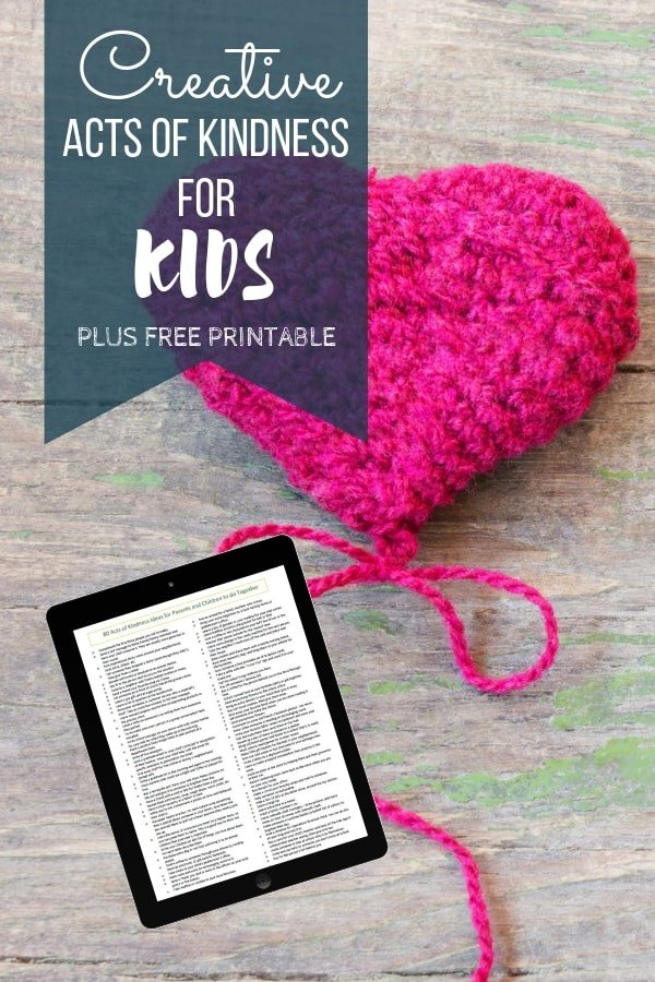 Creative Random Acts of Kindness for Kids: Free Download