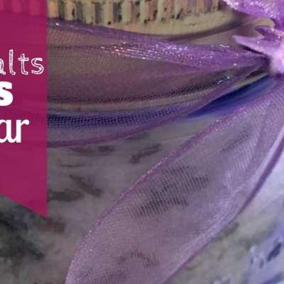bath salts gift in a jar
