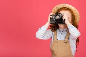 kid taking photos