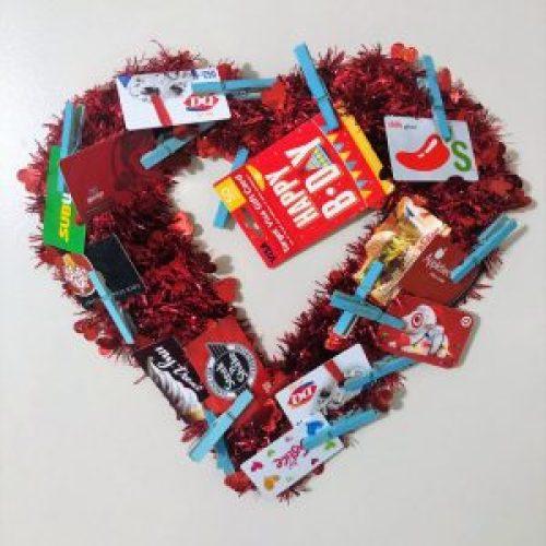 money gift wreath