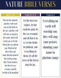 nature bible verse bookmarks