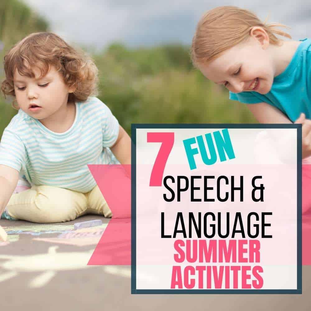Speech Language Summer Activities