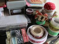 Studio Detail: tape, ribbons, etc