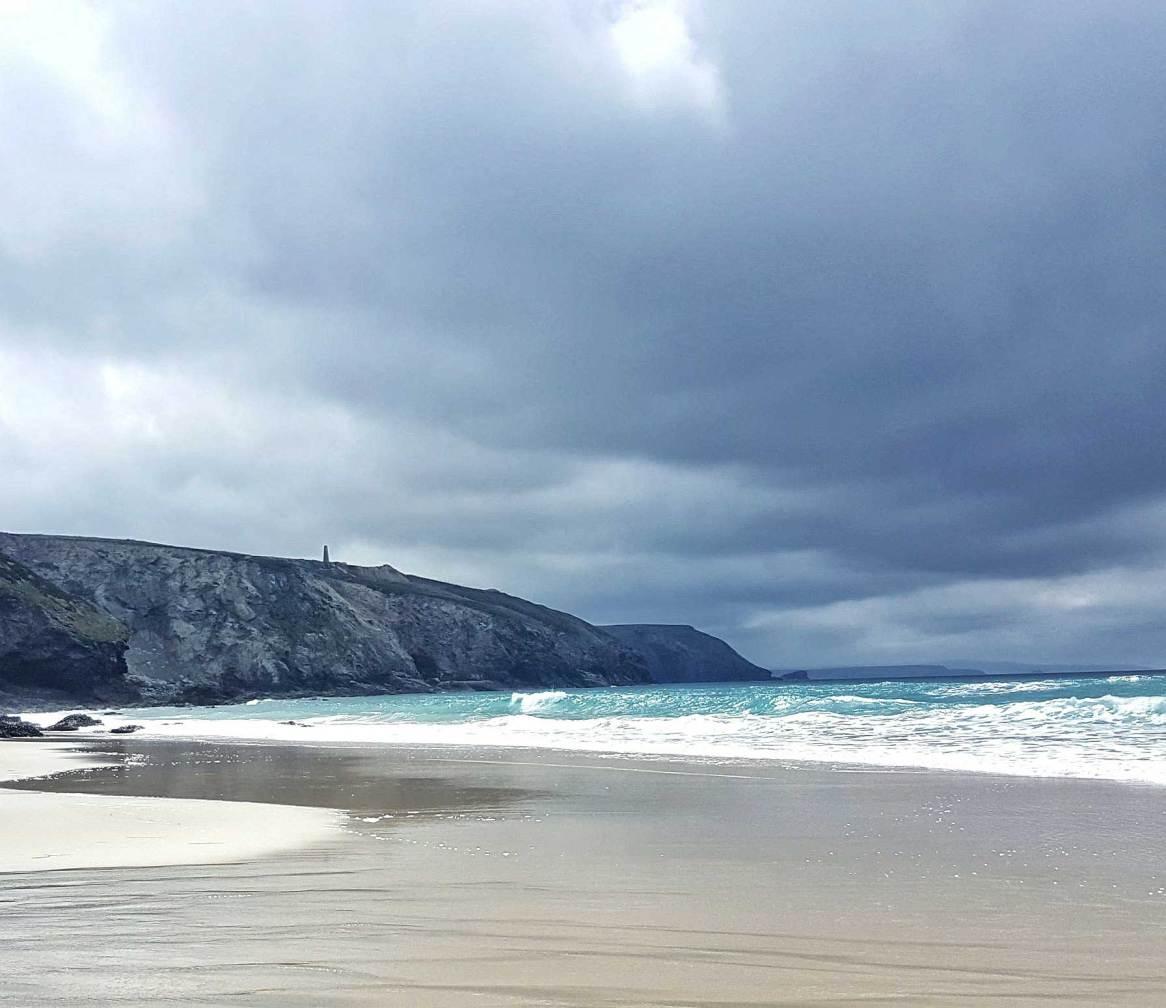 The view from Porthtowan beach