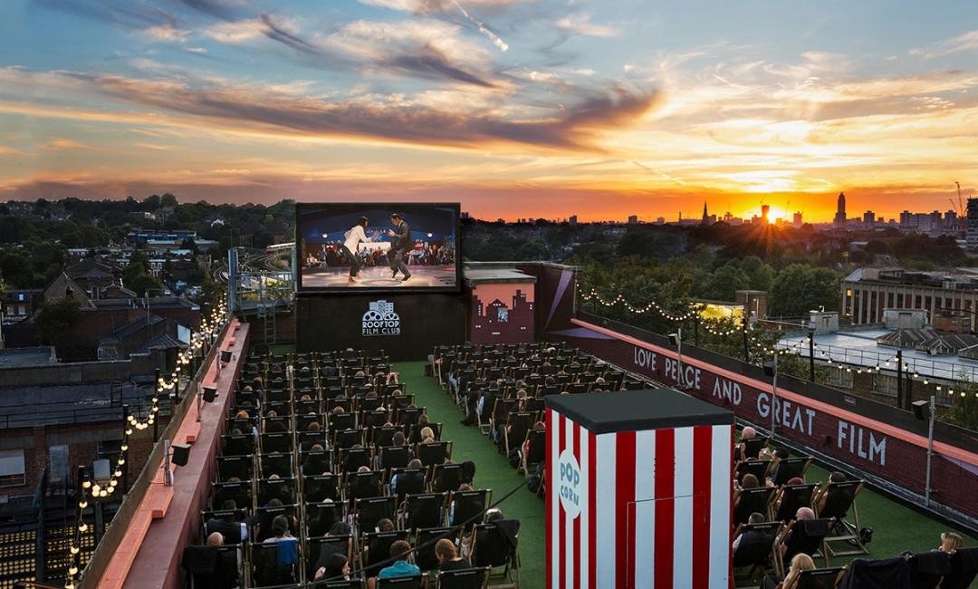 Unique London Date Ideas - Rooftop Cinema Club