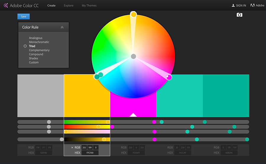 Design Inspiration - Adobe Colour Wheel