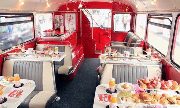 Unique London Date Ideas - Afternoon Tea Bus