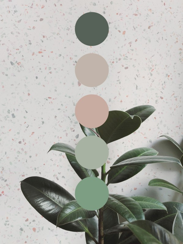 Graceful Blog - Botanical Interior Inspiration Colour Palette Greenery Nature