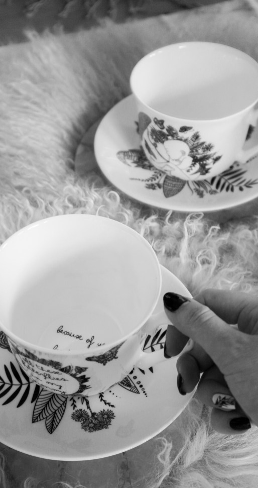 Butterfly Baby Teacup & Saucer set