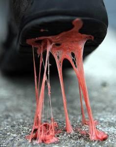 Carpet nightmares: Chewing gum edition