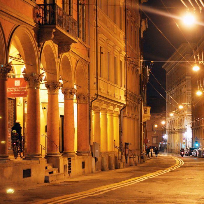 Bologna: the city of nighttime.