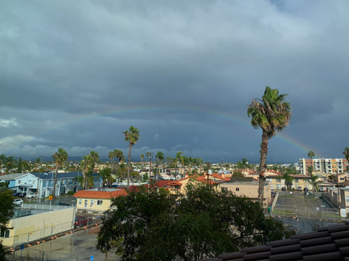 Rainbow in North Park, San Diego