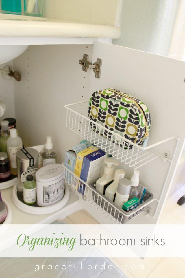 Organizing Under the Bathroom Sink