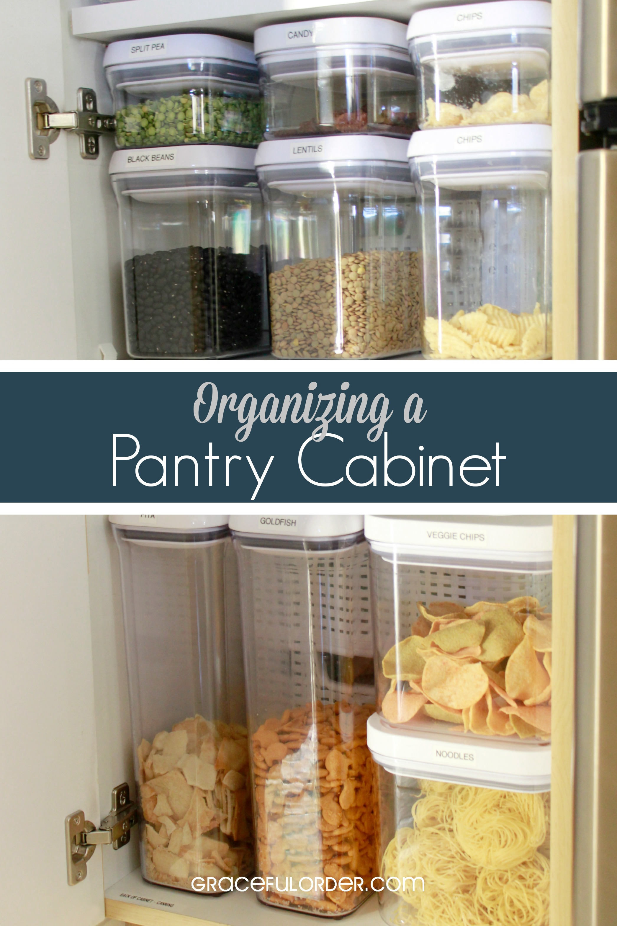 Organizing a Deep Pantry Cabinet - Graceful Order on ideas for organizing refrigerator, ideas for organizing closets, ideas for organizing tools, ideas for small kitchen, ideas for organizing living room furniture, ideas for home organization, ideas for organizing toys,