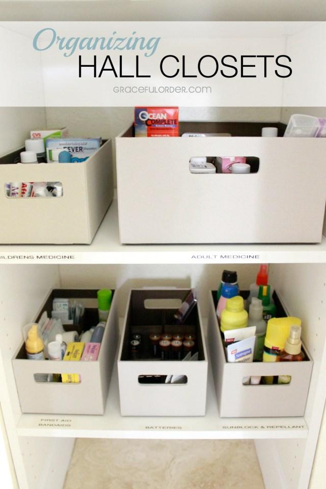 Organized Home Week 8 - The Hall Closet