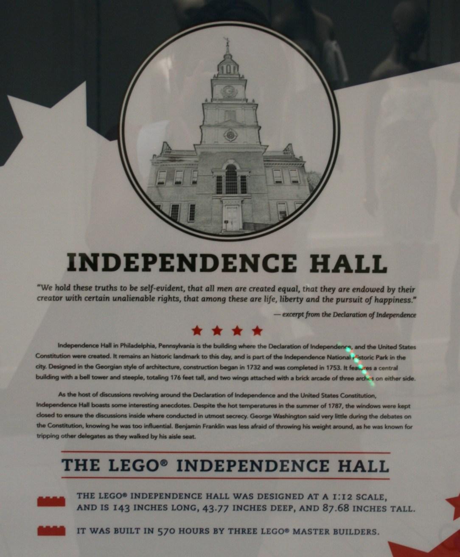 Independence Hall Writing