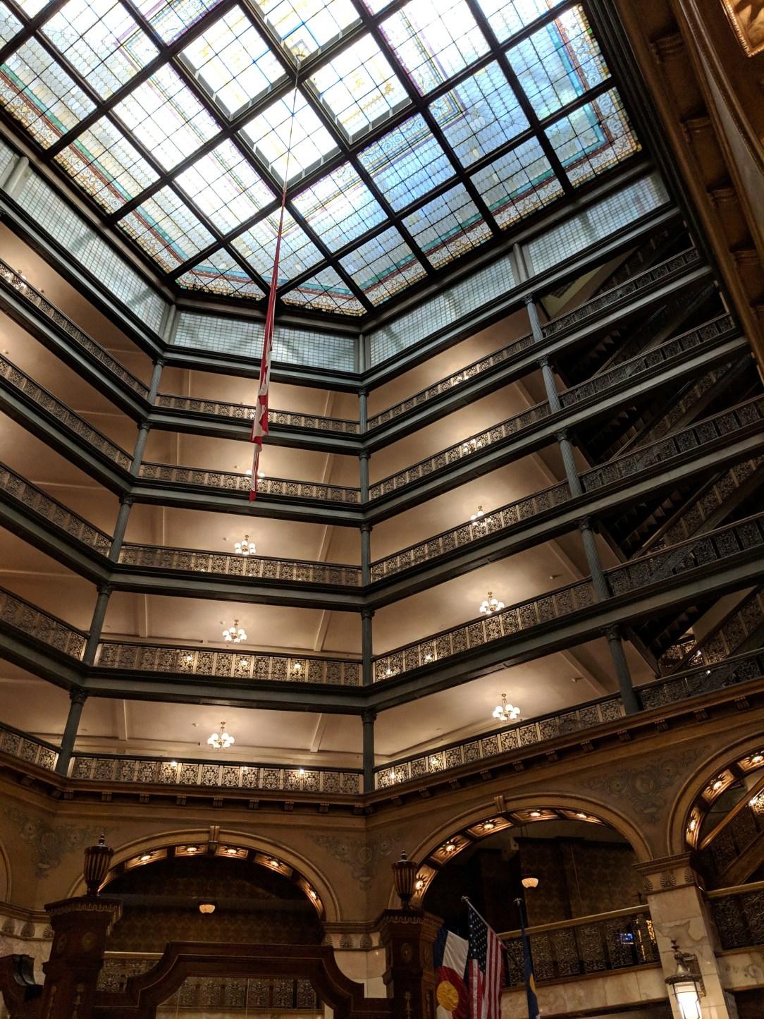old Denver hotel lobby