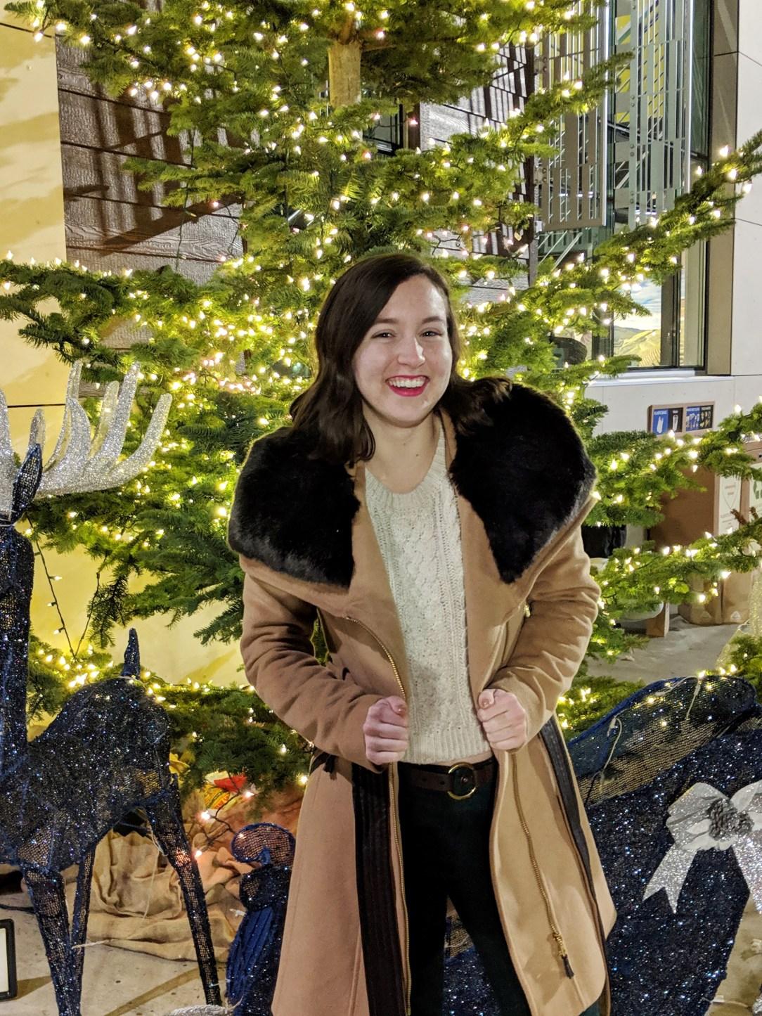 Macy's faux fur coat