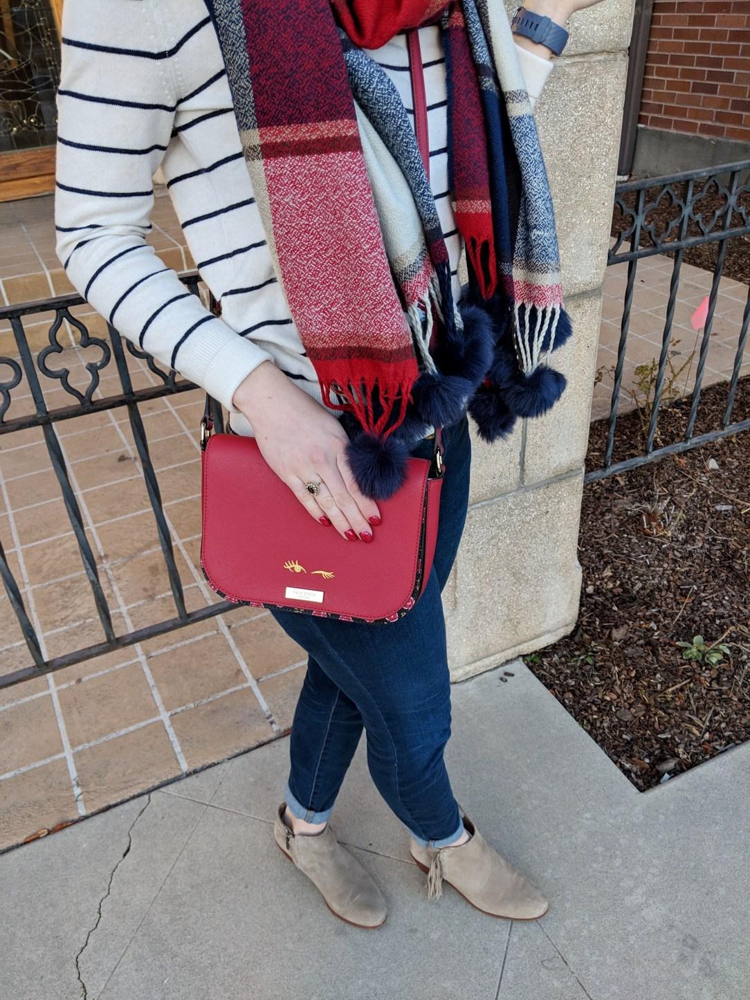 red Kate Spade New York purse