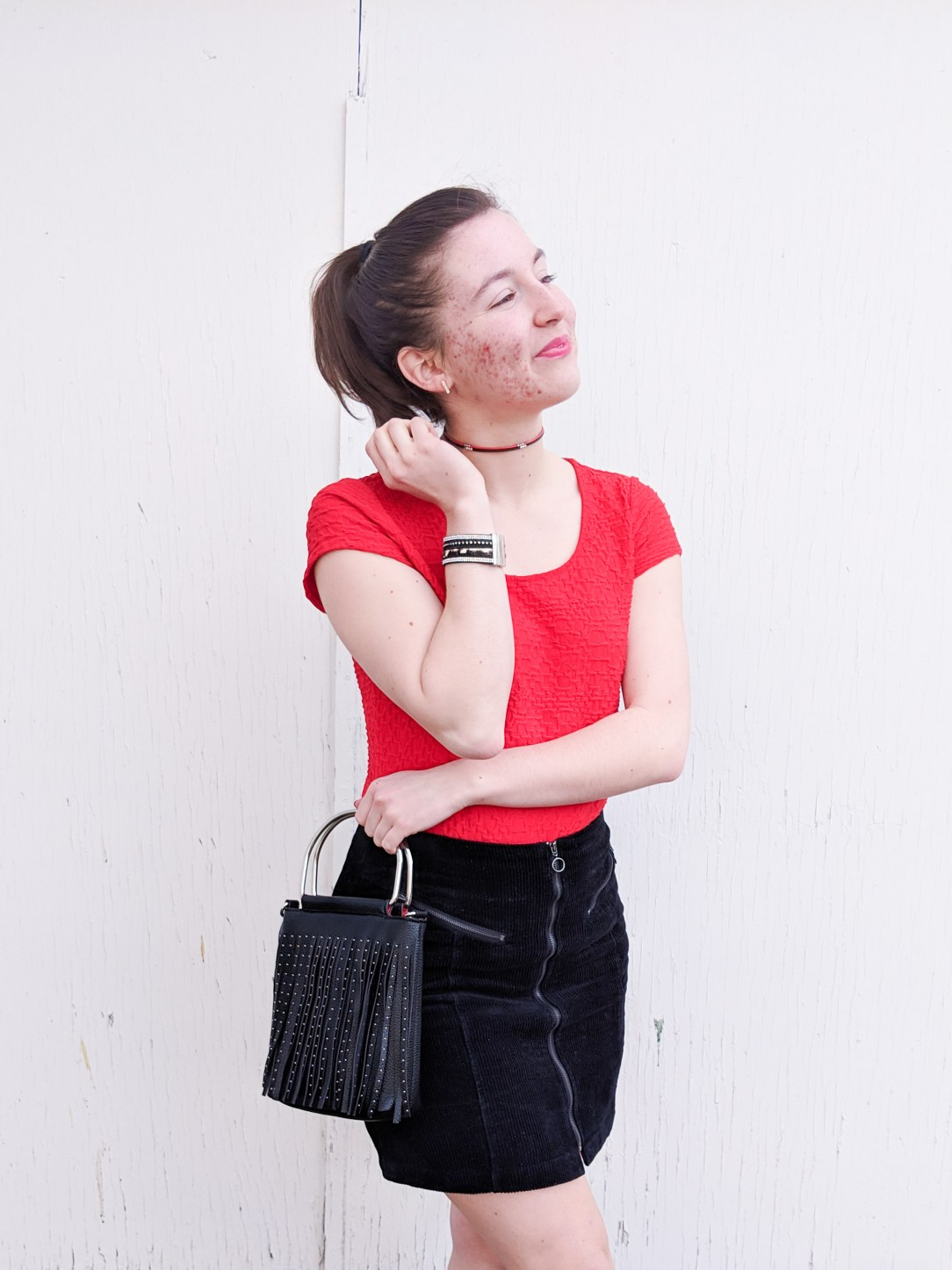 red and black Valentine's Day Outfit