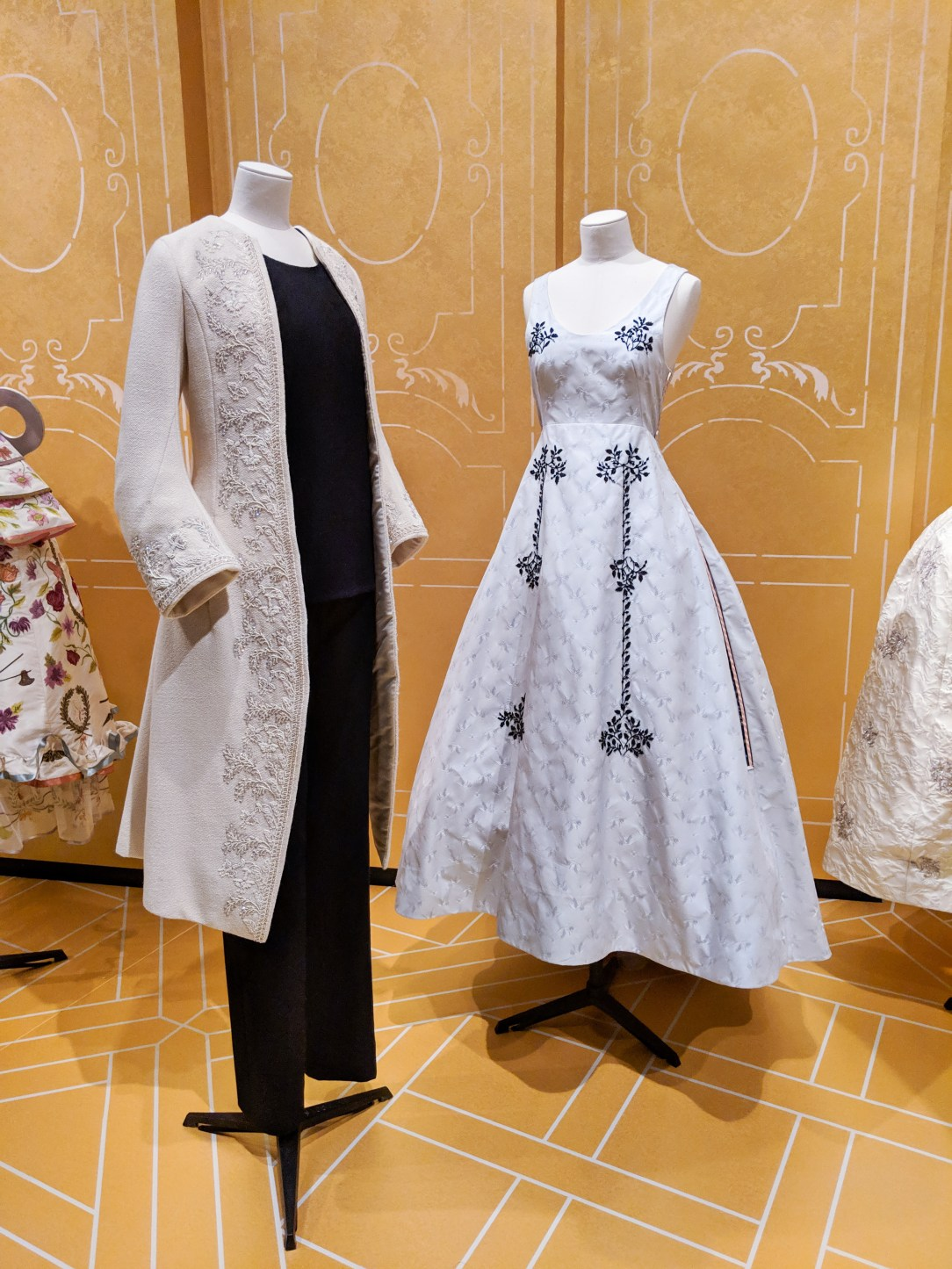 Dior jacket and gown