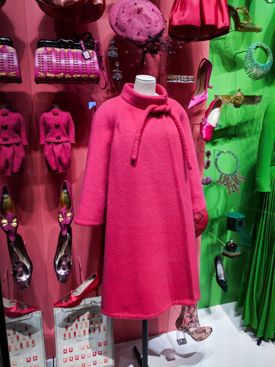pink Dior cape