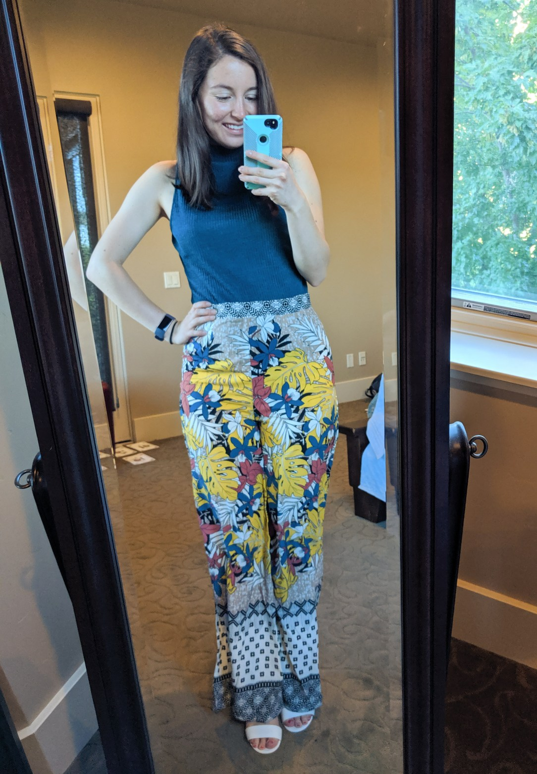 patterned palazzo pants from Francesca's