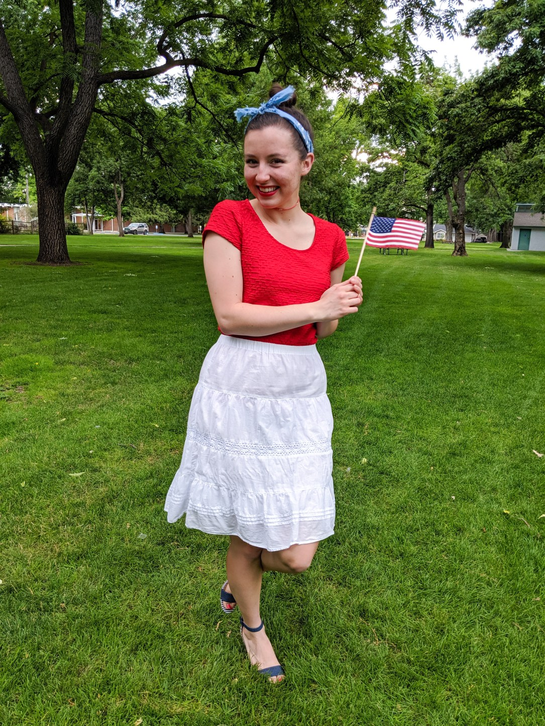 patriotic outfit, festive outfit, red white and blue, 4th of July