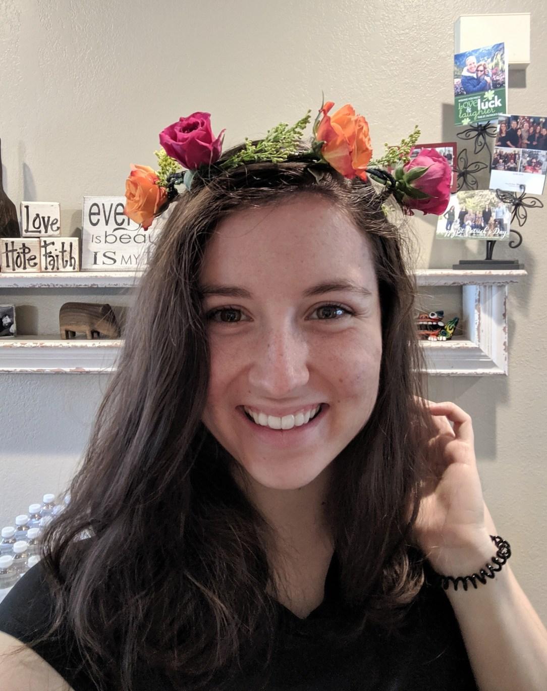 Flower crown, roses, hair accessories, flower headband, living flower c