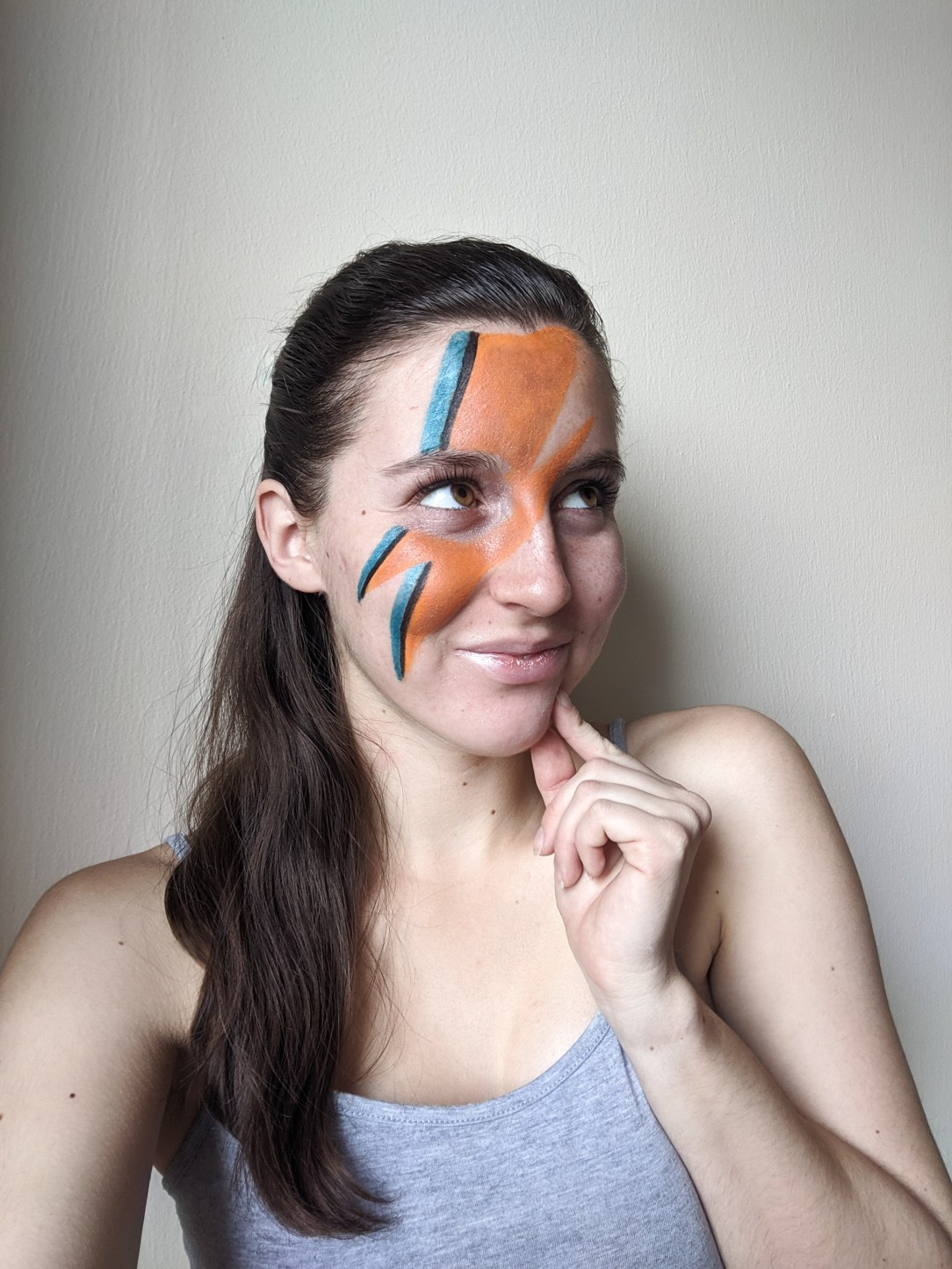 David Bowie, album cover, Aladdin Sane, face paint