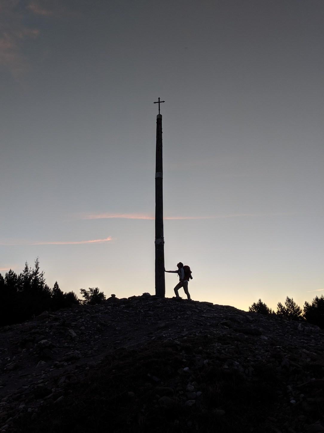 Cruz de Fero, pilgrim, Camino de Santiago