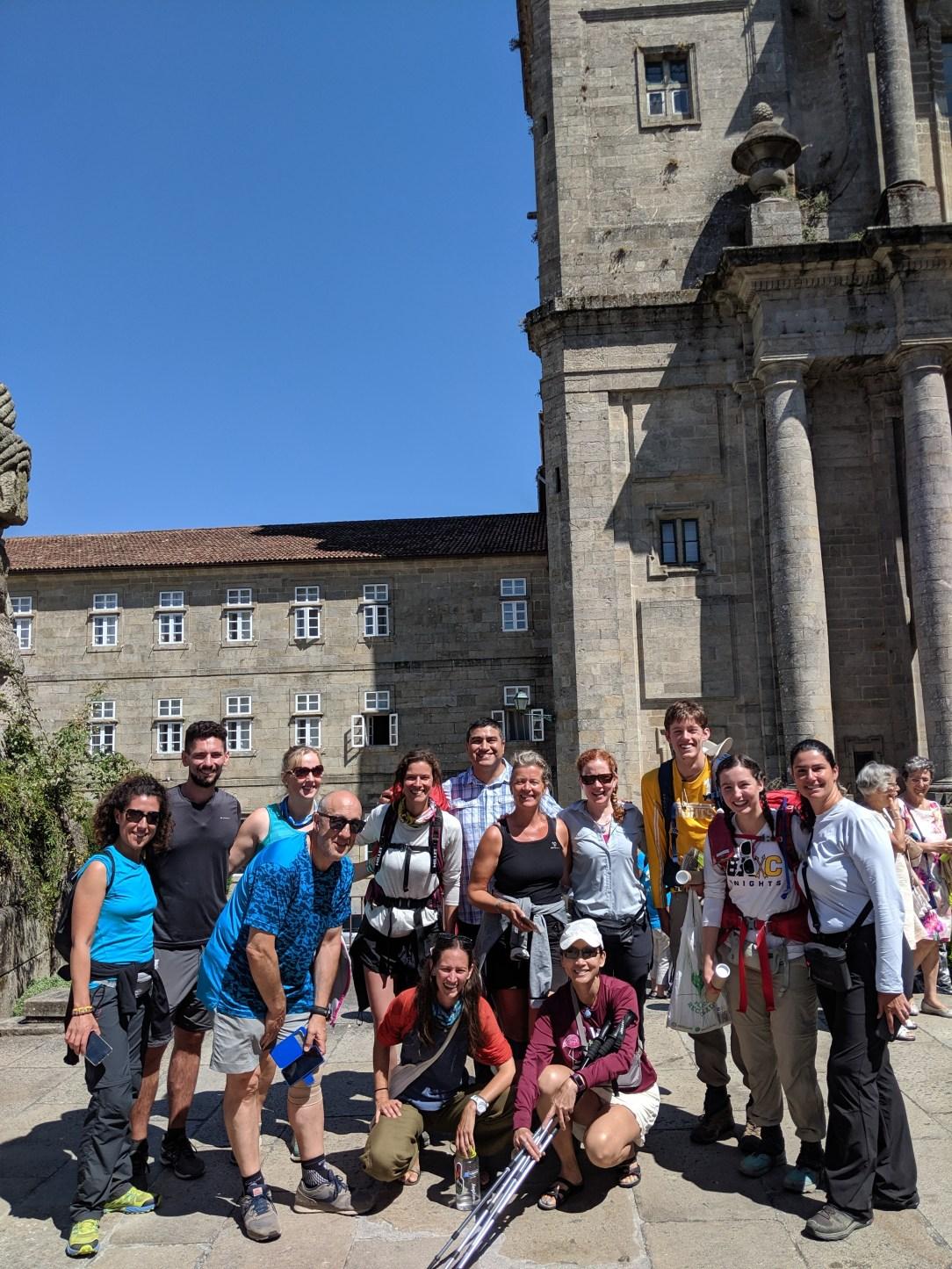 family, pilgrims, pilgrimage, santiago