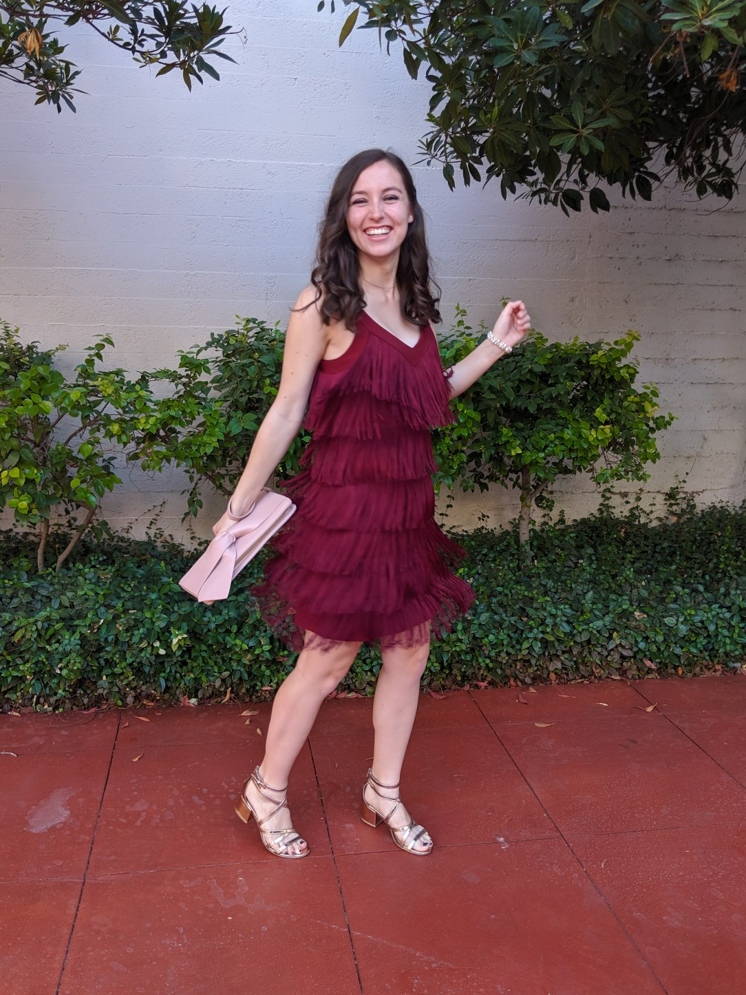 dancing outfit, fringe dress, funny story, wedding guest
