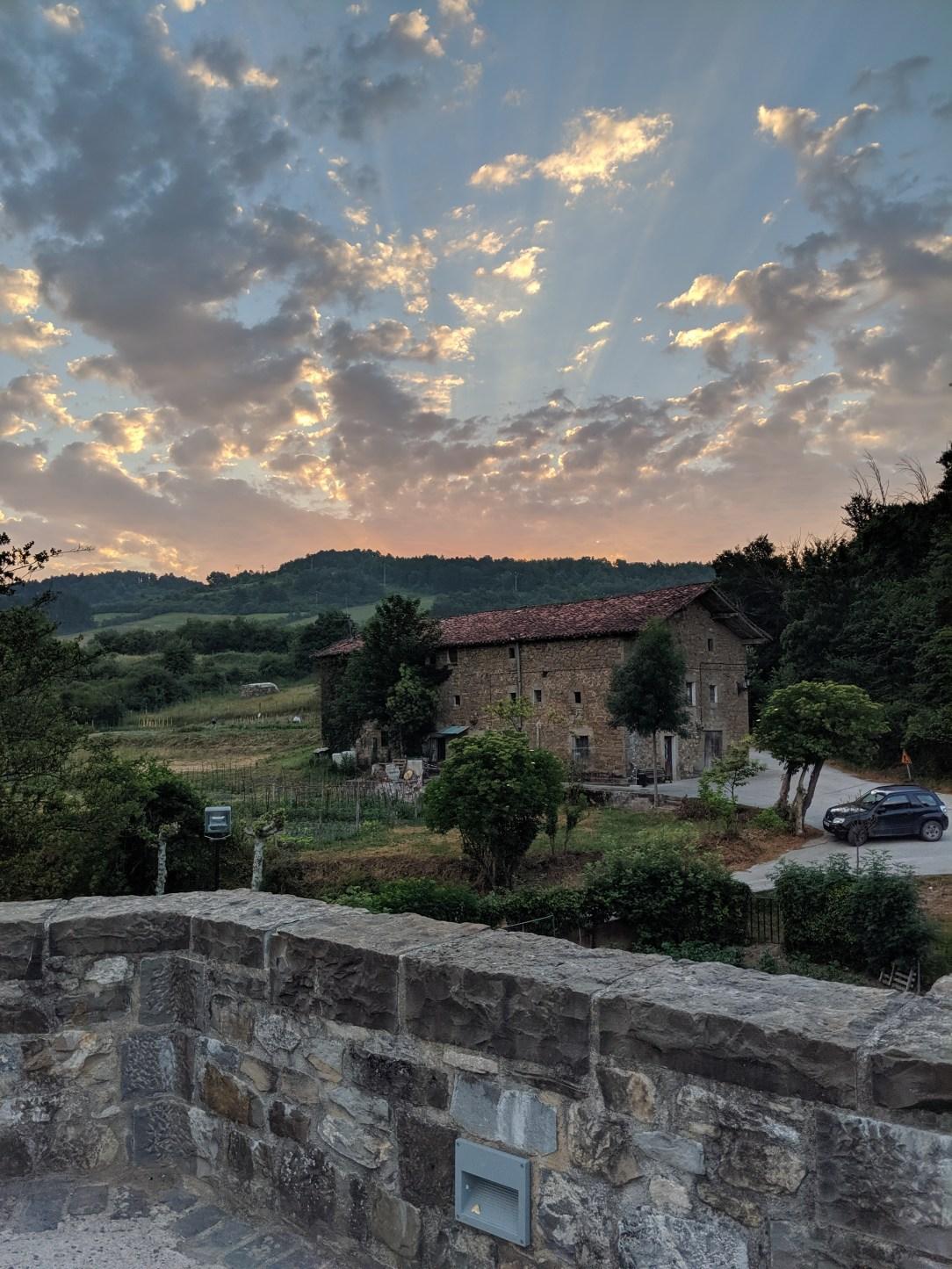 Spanish sunrise, pilgrimage, Camino de Santiago