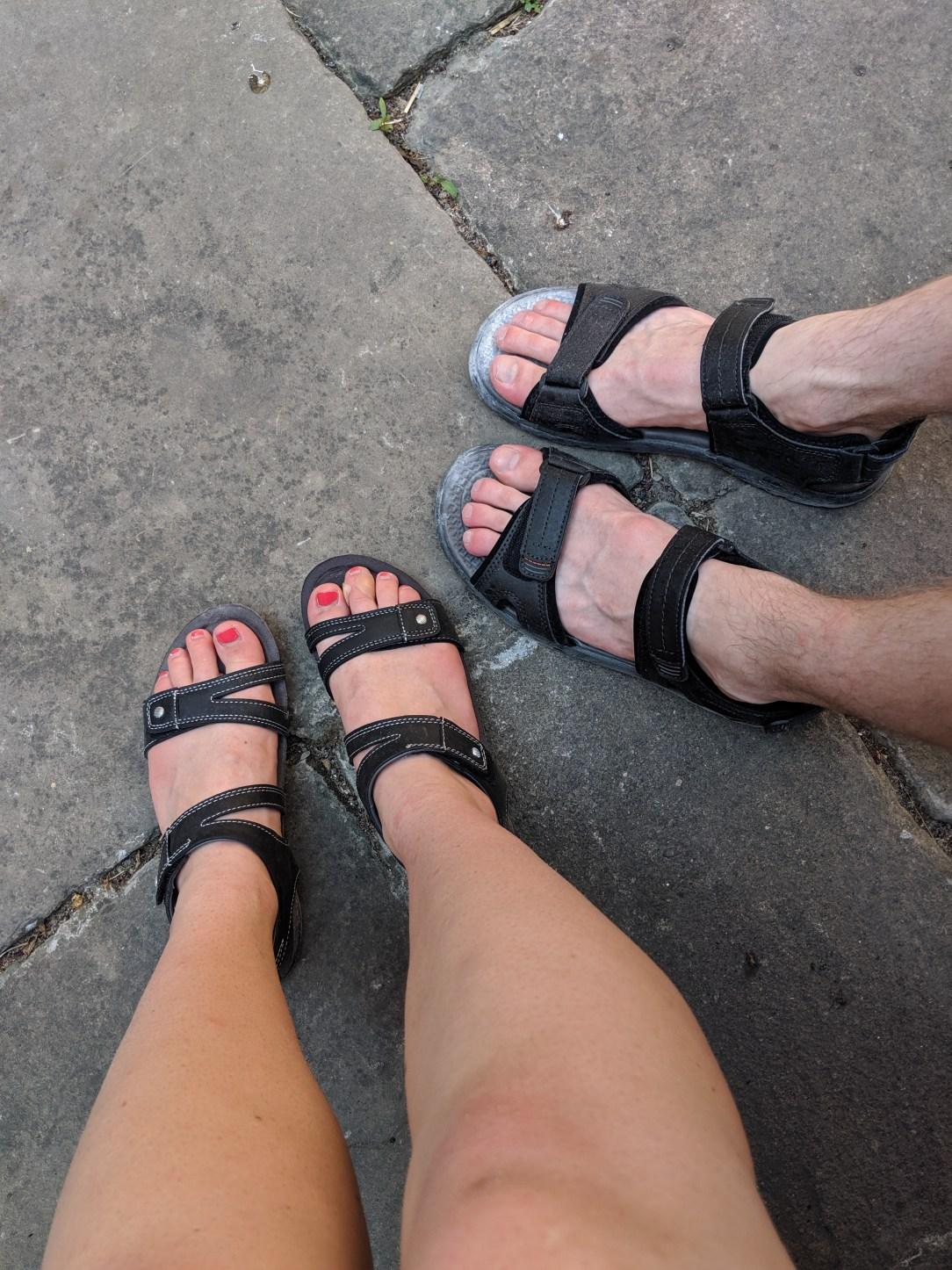 pilgrim feet, pilgrims, peregrinos, Camino de Santiago