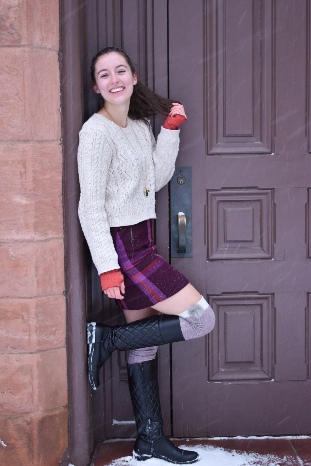 snow day, winter outfit, young fashion blogger, affordable fashion