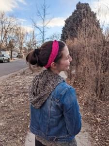 hoodie, cute sweatshirt, pink headband, hair accessories