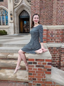 Nordstrom Rack, fit and flare dress, heirloom jewelry, pins