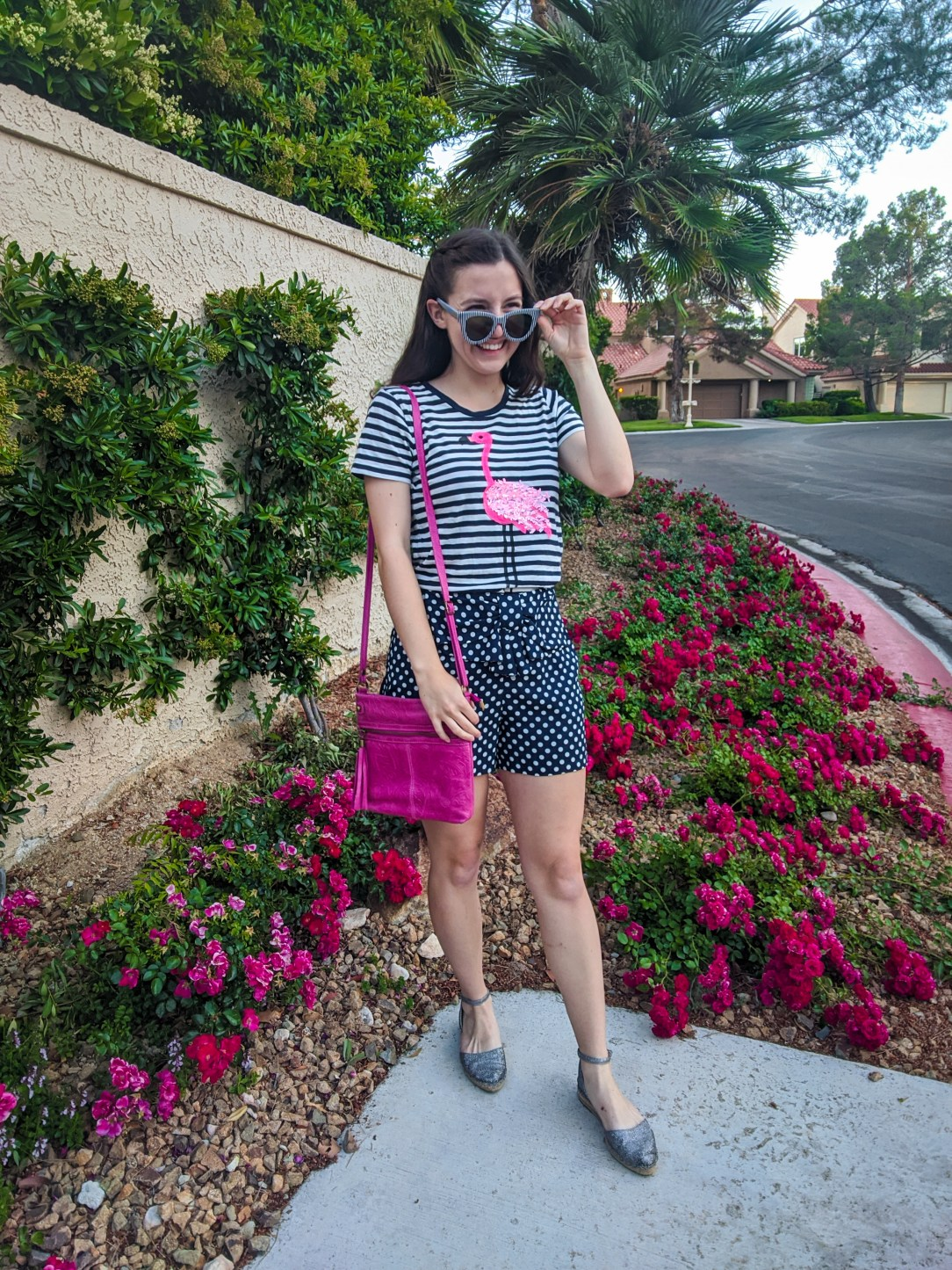 how to pattern mix, how to print mix, mixing patterns, polka dots and stripes