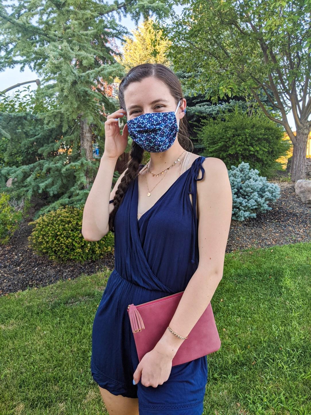 navy-blue-face-mask-romper-summer-style