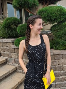 dutch-side-braid-yellow-purse-polka-dot-dress