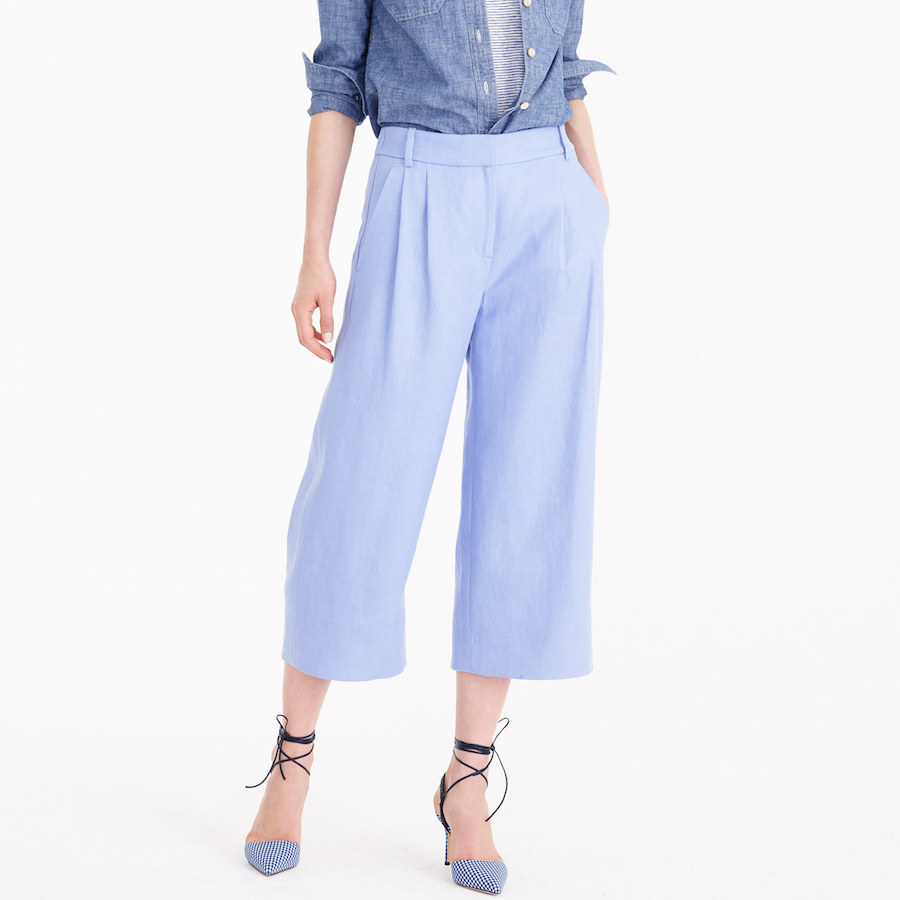 High waisted pants; source: JCrew