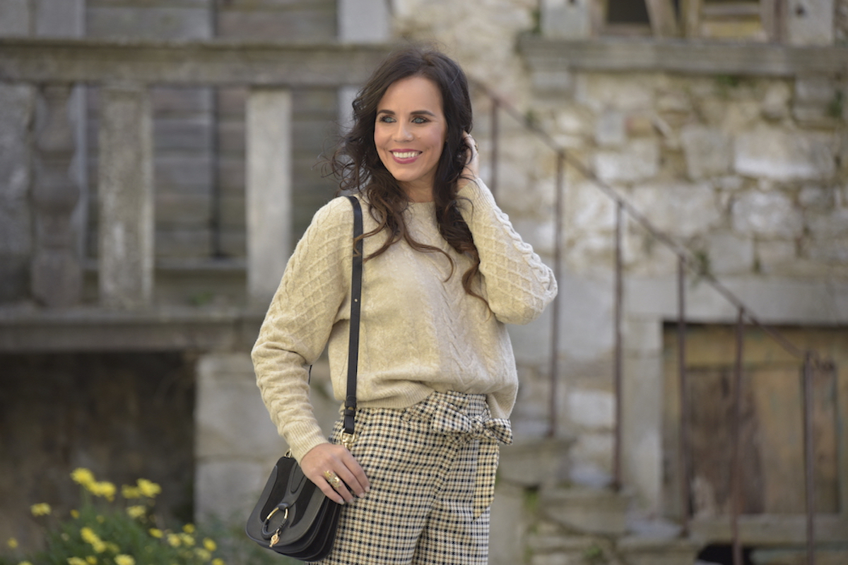 Style of the day: culottes and beige