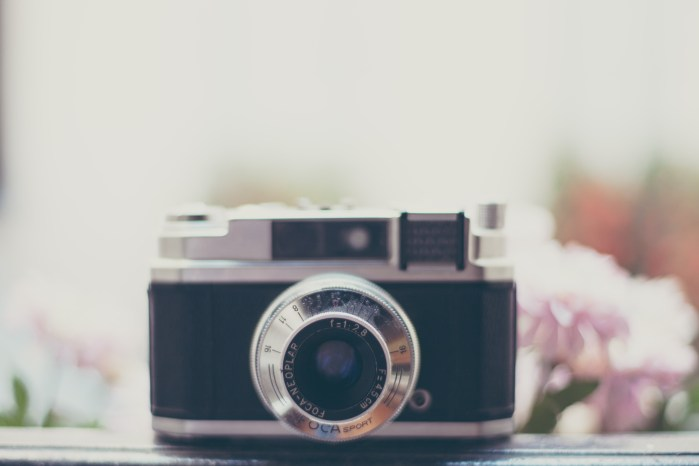 Camera and flower