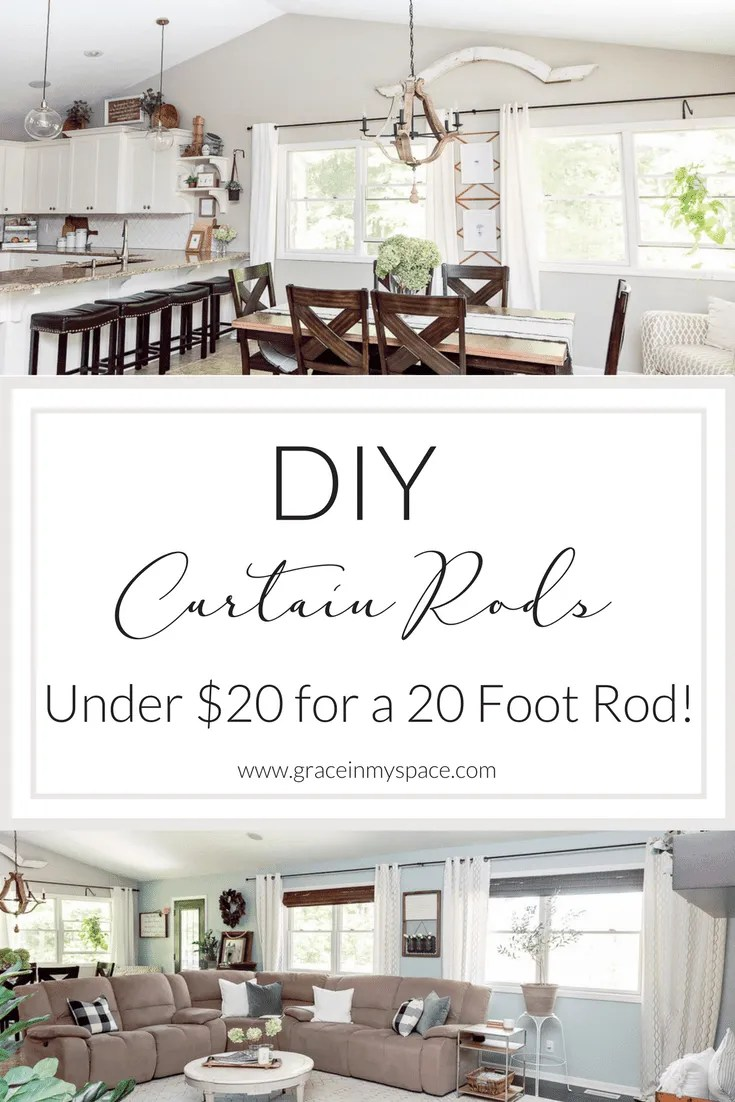 diy curtain rods under 20 up to 20
