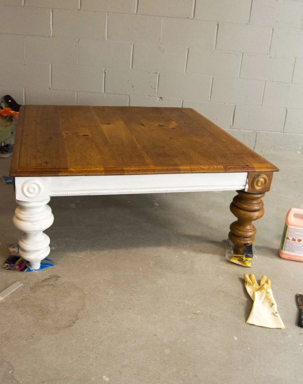 diy coffee table | how to transform a thrifted coffee table | grace