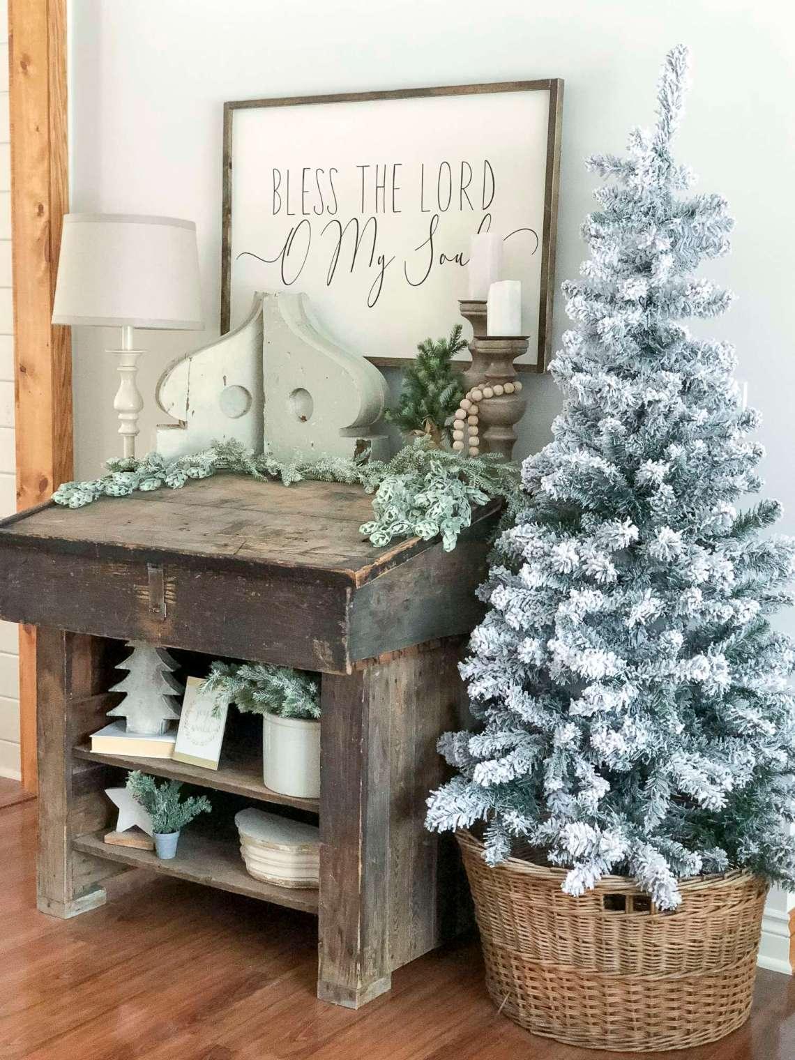 Neutral Modern Farmhouse Christmas Decorations | Grace In ...