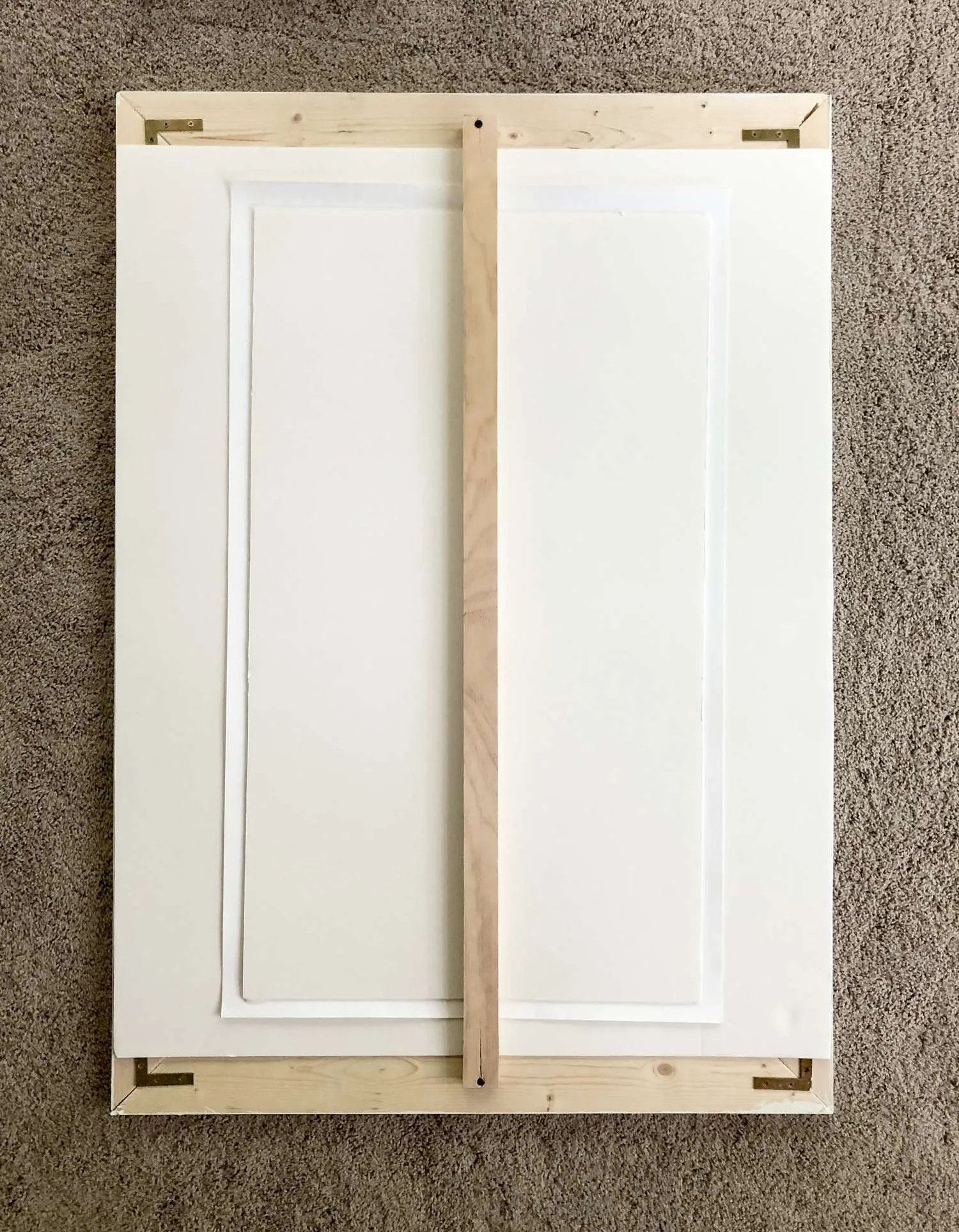 large diy picture frame with a mat