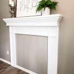Diy Faux Fireplace Mantel Tutorial Grace In My Space